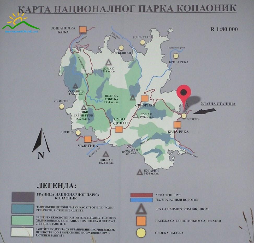 Karta NP Kopaonik